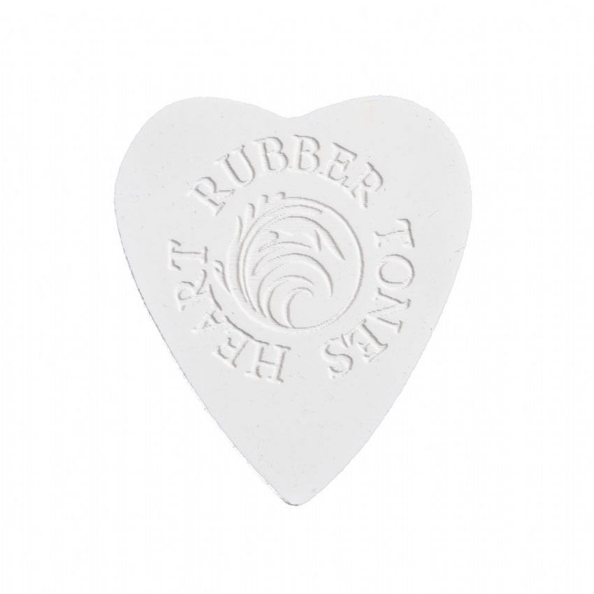 Rubber Tones Heart - White Silicon - 1 Pick | Timber Tones